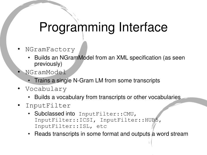 Programming Interface