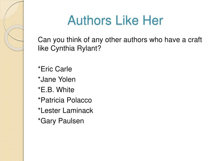 Authors Like Her