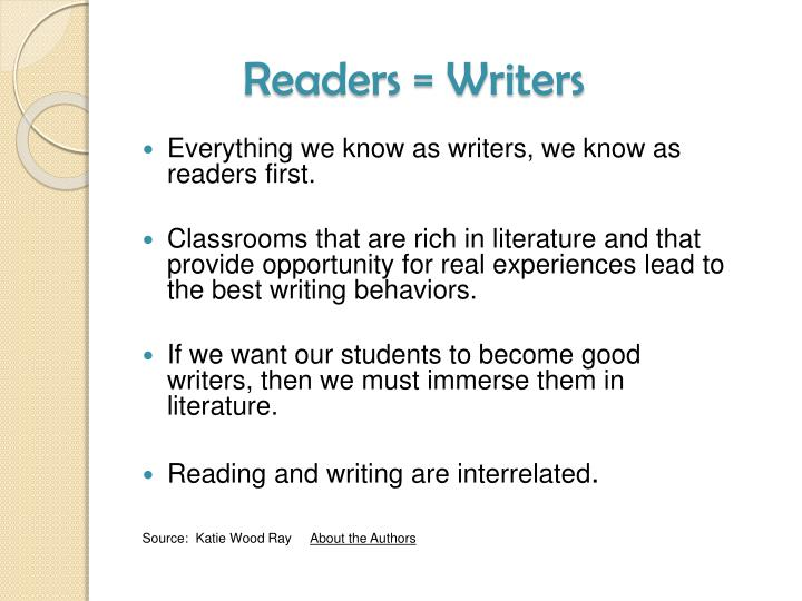 Readers = Writers