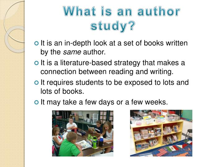What is an author study?