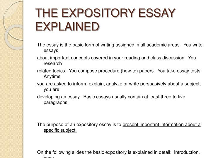 The expository essay explained