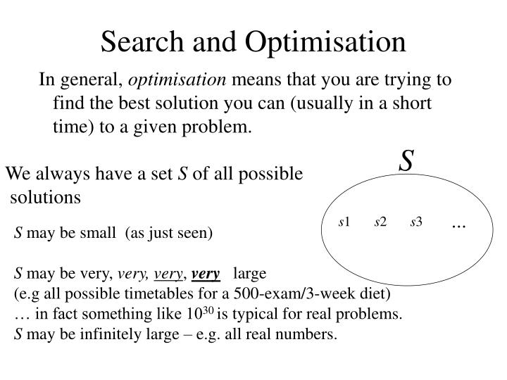 Search and Optimisation