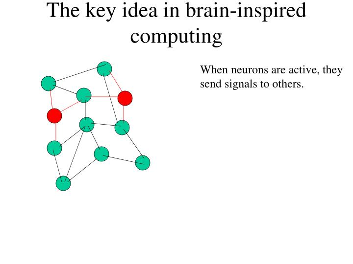 The key idea in brain-inspired computing