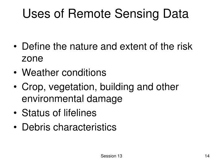 Uses of Remote Sensing Data