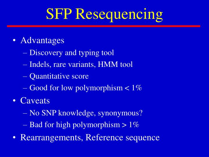 SFP Resequencing
