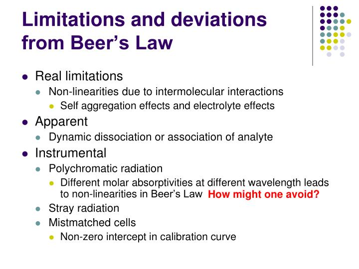 absorption spectroscopy and beer s law And this relationship is known as beer's law  uv-vis spectroscopy is an absorption  using the beer lambert law, the absorption of spectra.