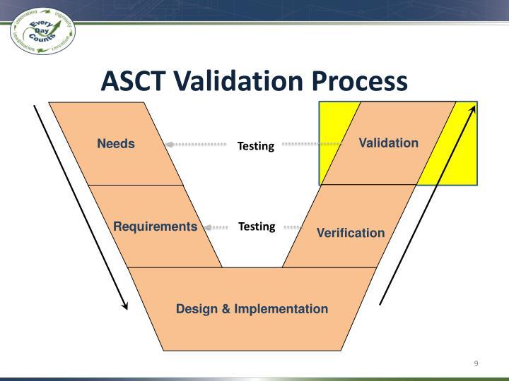 ASCT Validation Process