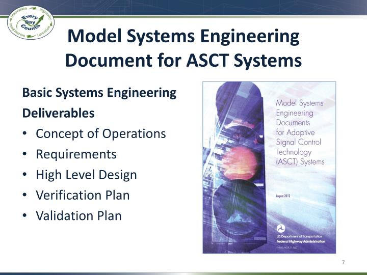 Model Systems Engineering Document for ASCT Systems
