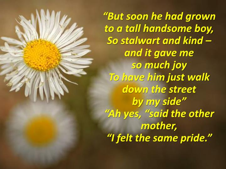 """But soon he had grown to a tall handsome boy,"