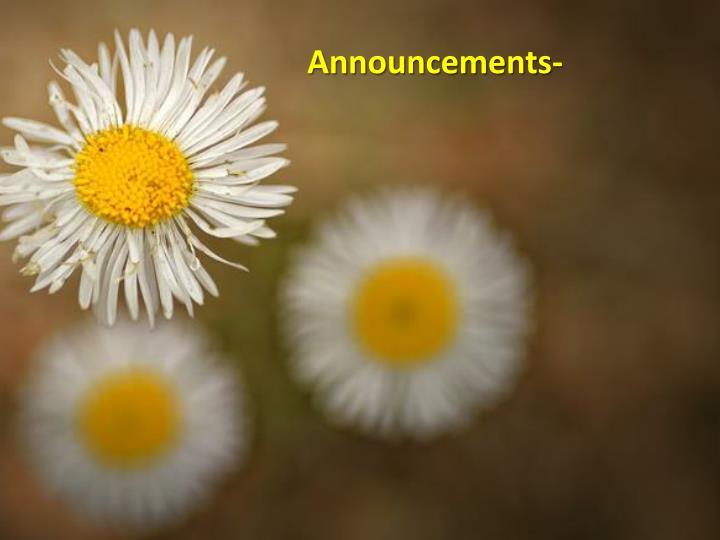 Announcements-