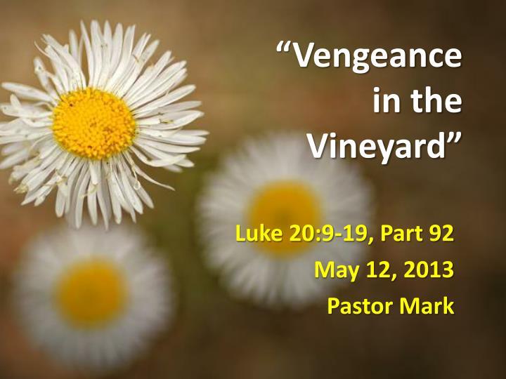 """""""Vengeance"""
