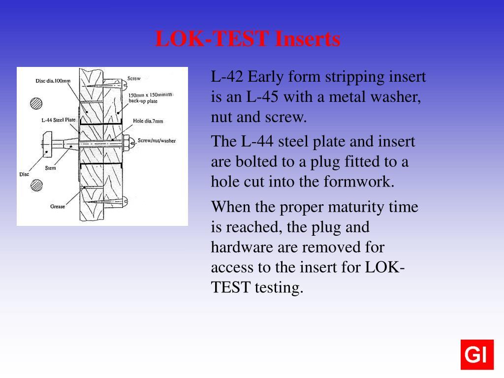 LOK-TEST Inserts