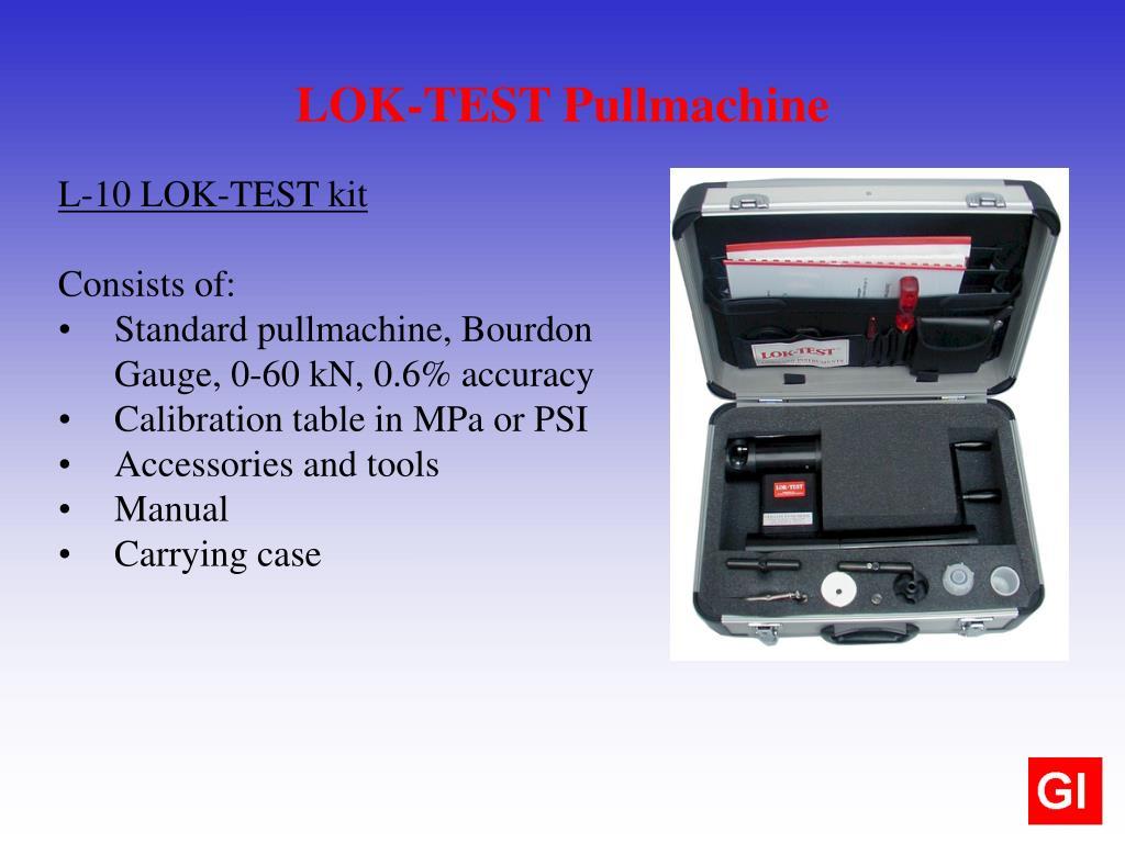 LOK-TEST Pullmachine