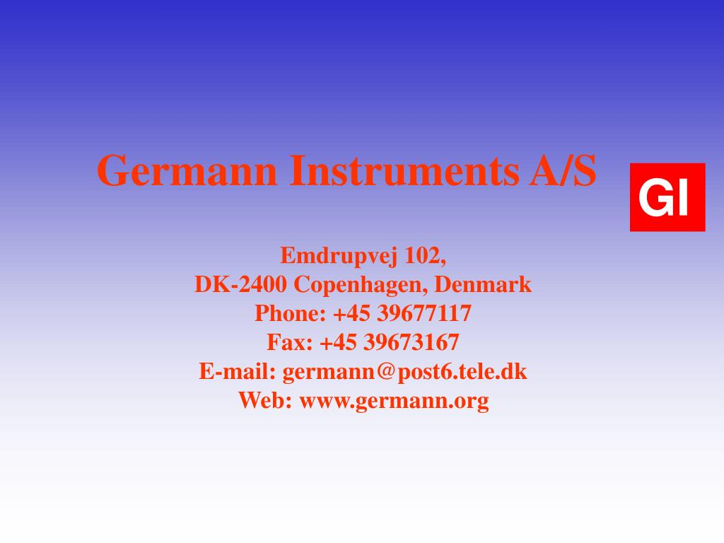 Germann Instruments A/S