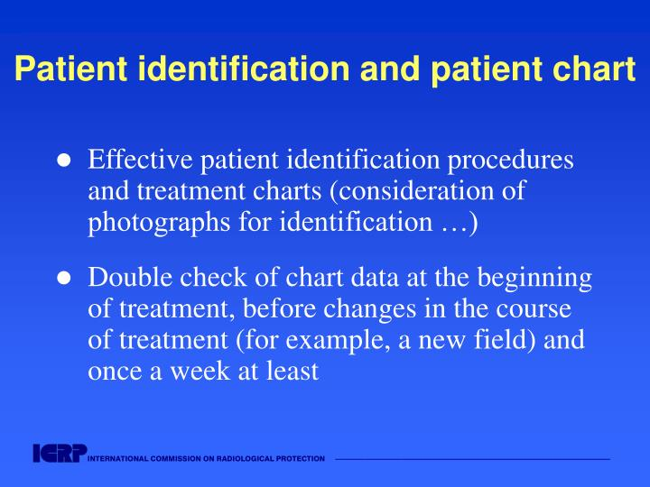 Patient identification and patient chart