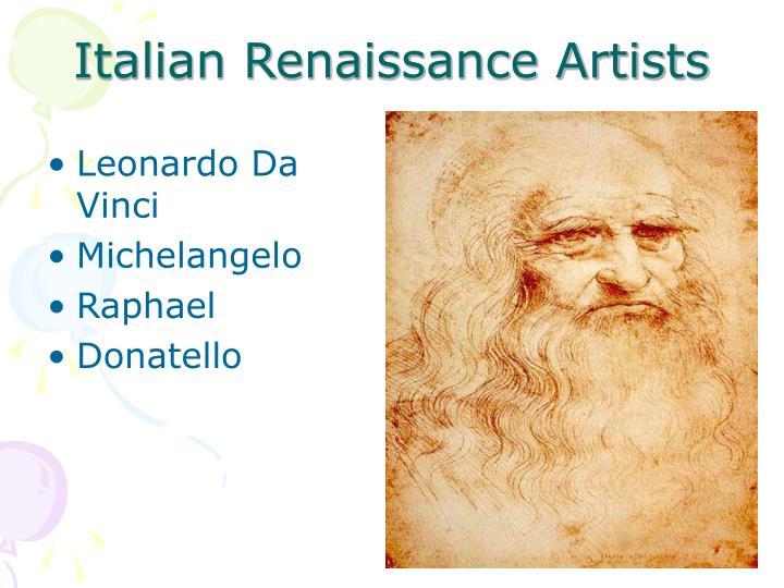 Italian Renaissance Artists