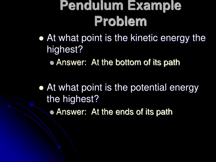 Pendulum Example Problem