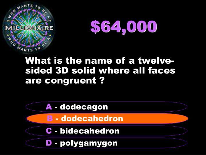 $64,000