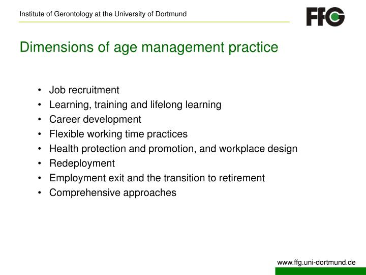 Dimensions of age management practice