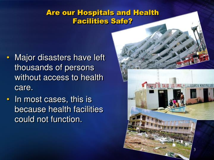 Are our hospitals and health facilities safe