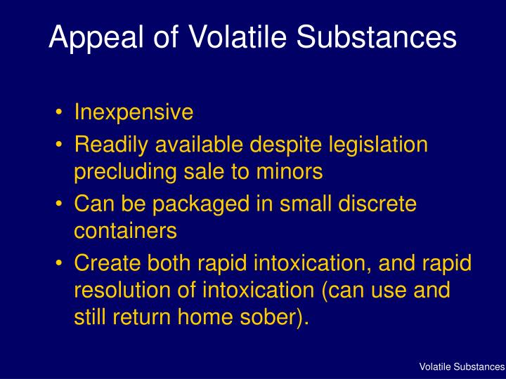 Appeal of Volatile Substances