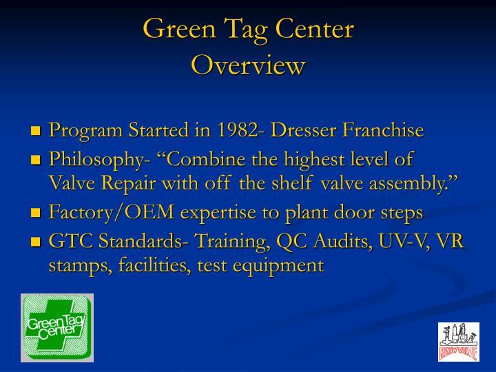 Green Tag Center