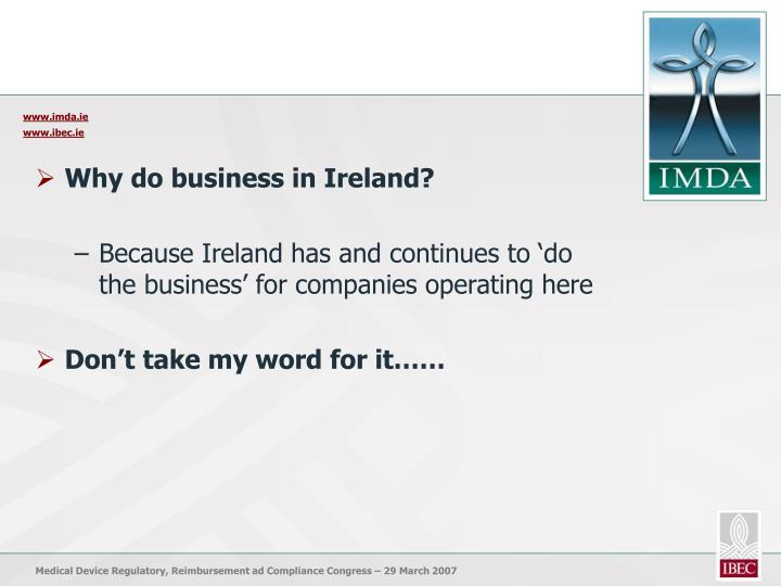 Why do business in Ireland?