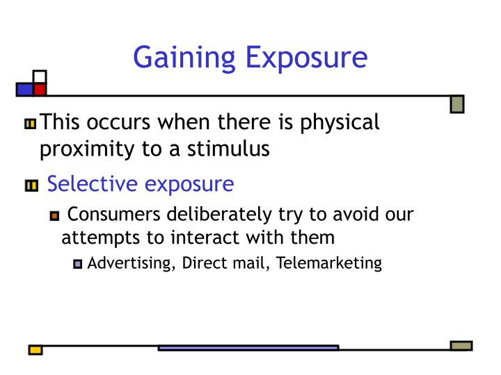 Gaining Exposure