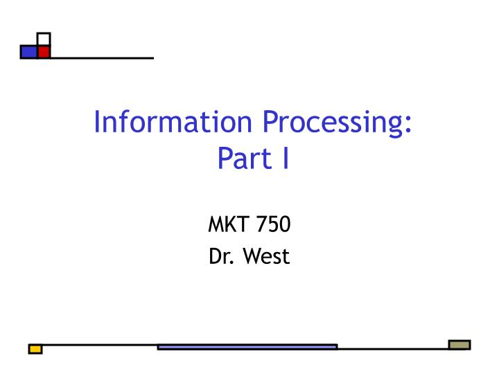 Information processing part i