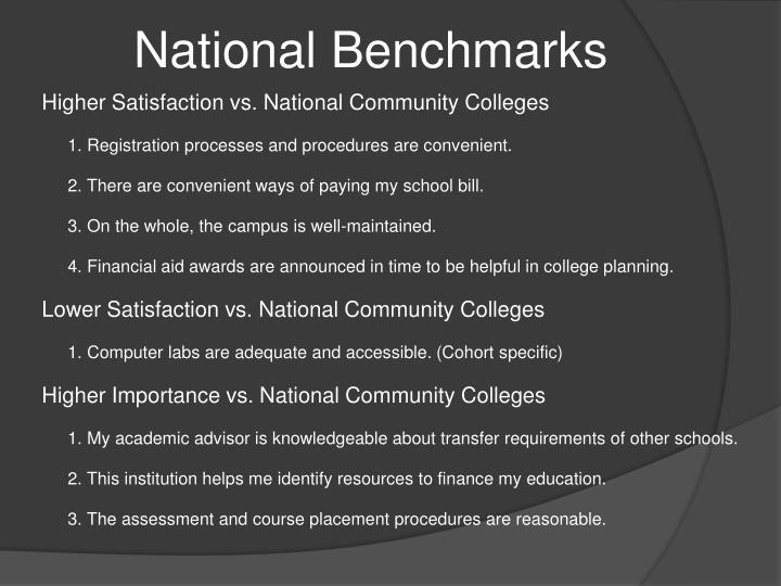 National Benchmarks
