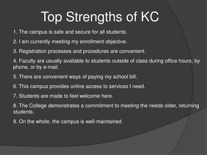 Top Strengths of KC