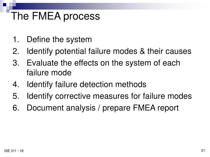 The FMEA process