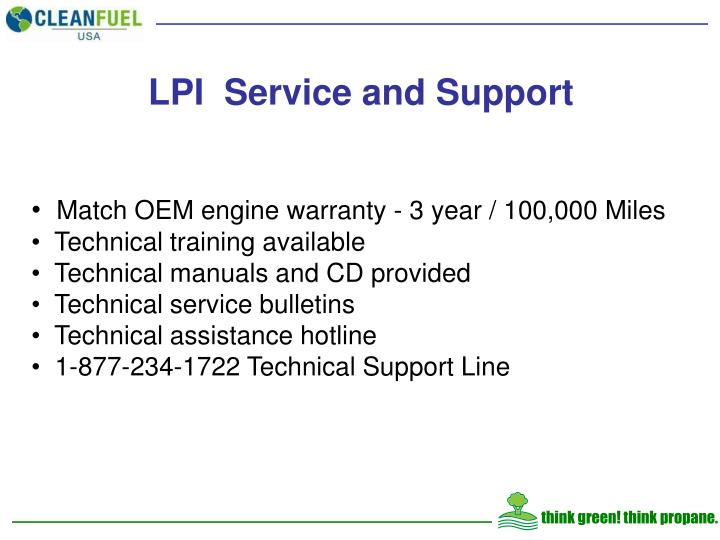 LPI  Service and Support