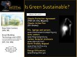 is green sustainable