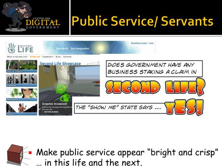 Public Service/ Servants