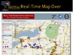 real time map over