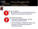 top 5 nuggets for leading in place