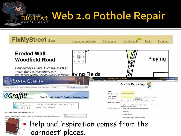 Web 2.0 Pothole Repair