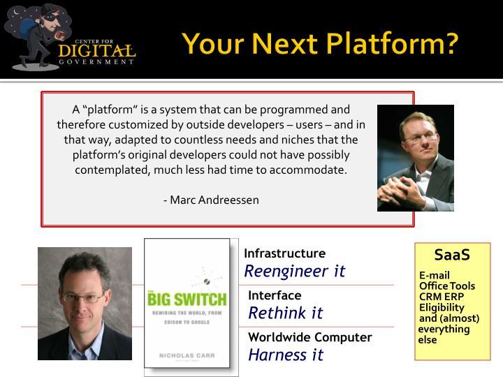 Your Next Platform?