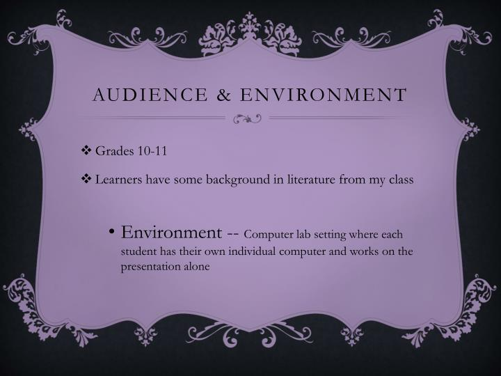 Audience & Environment