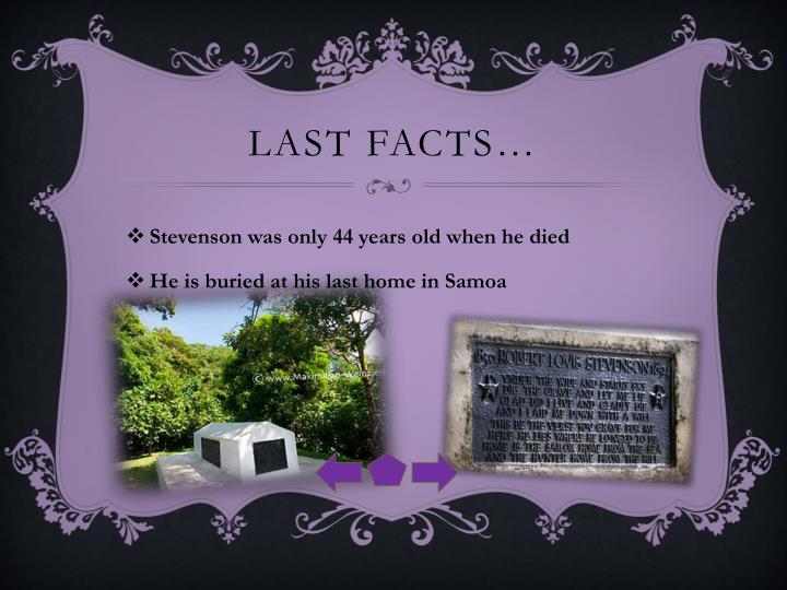 Last facts…