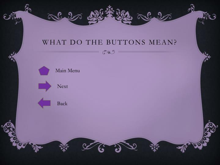 What do the Buttons Mean?
