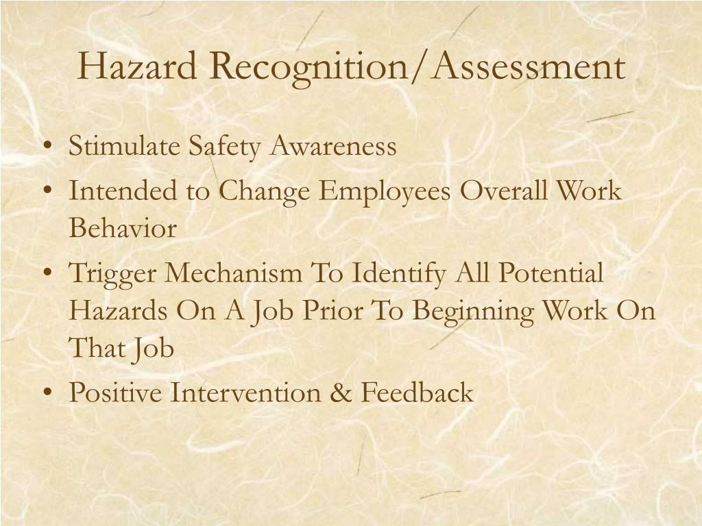 Hazard Recognition/Assessment