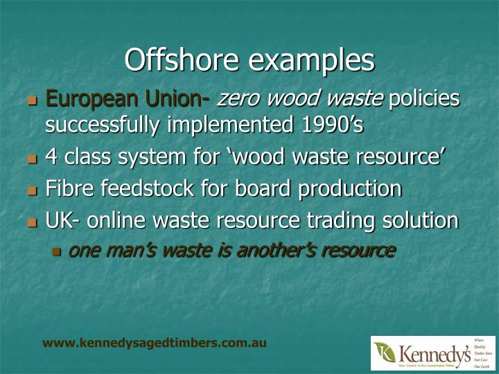 Offshore examples