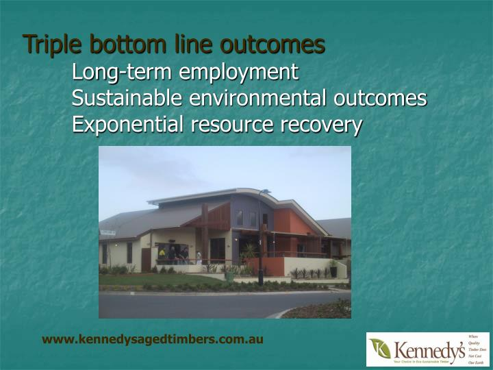 Triple bottom line outcomes