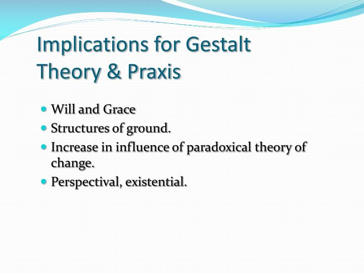 Implications for Gestalt