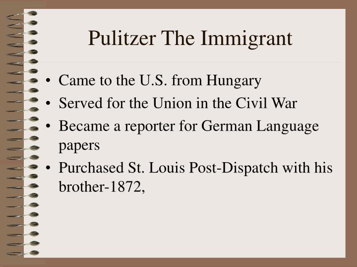 Pulitzer The Immigrant
