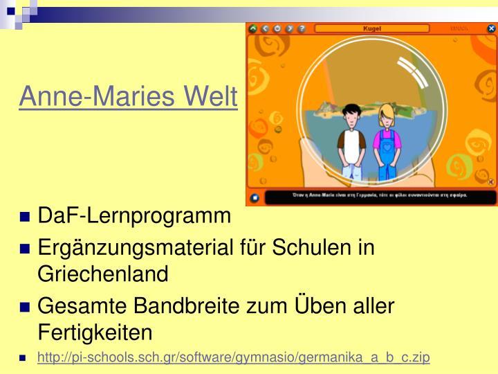 Anne-Maries Welt