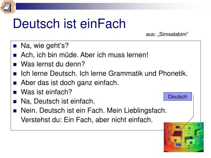 Deutsch ist einFach
