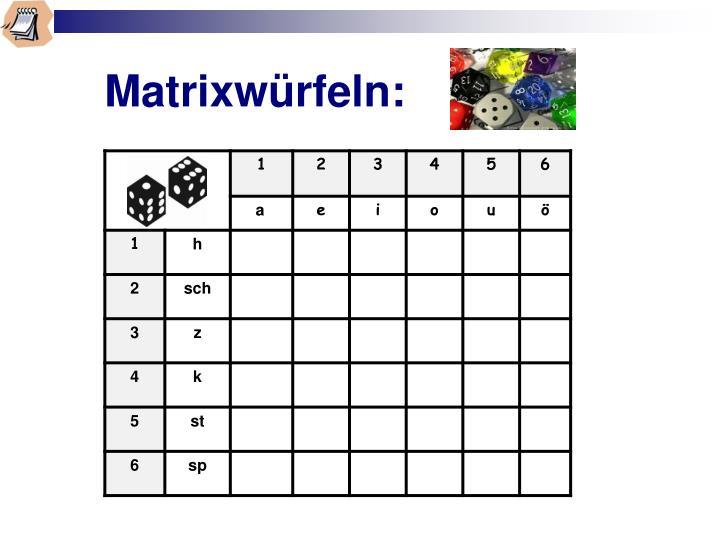 Matrixwürfeln: